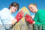 CLEAN UP: Mercy Mounthawk transition year students Ashley King and Caoimhe Marley, who were involved in the clean up of St John's Graveyard in Tralee on Thursday last..   Copyright Kerry's Eye 2008