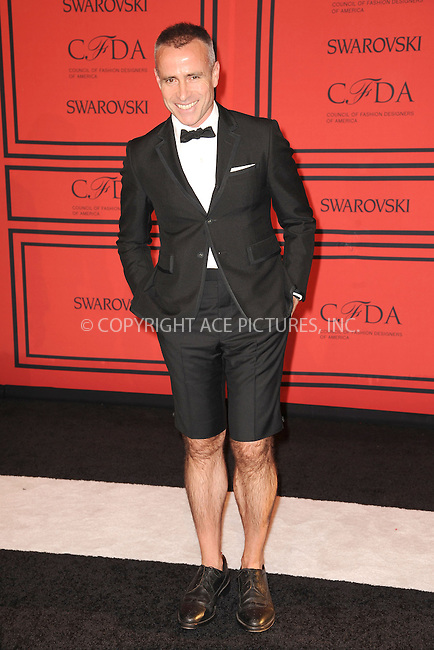 WWW.ACEPIXS.COM . . . . . <br /> June 3, 2013...New York City....Thom Browne attending the 2013 CFDA Fashion Awards at Lincoln Center's Alice Tully Hall on June 3, 2013 in New York City ....Please byline: Kristin Callahan - ACEPIXS.COM.. . . . . . ..Ace Pictures, Inc: ..tel: (212) 243 8787 or (646) 769 0430..e-mail: info@acepixs.com..web: http://www.acepixs.com