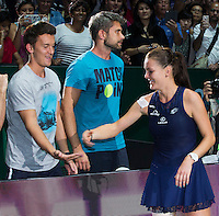TEAM AGNIESZKA RADWANSKA (POL)<br /> <br /> WTA FINALS, SINGAPORE INDOOR STADIUM, SINGAPORE SPORTS HUB, SINGAPORE, 2015