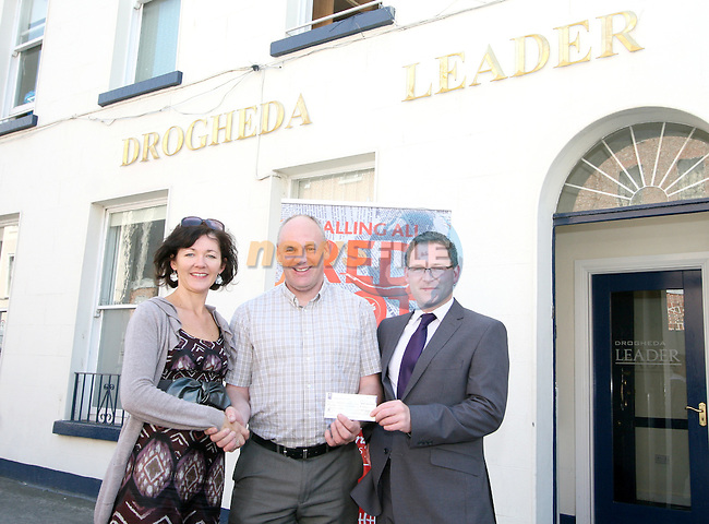 St Josephs Transition Year Coordinator, Mr Kelly with Siobhan Woods from Beverage Business Solutions and Gordan Hatch from the Drogheda Leader at the Presentation of prizes for the Red Hot Writers Course...Photo NEWSFILE/Jenny Matthews.(Photo credit should read Jenny Matthews/NEWSFILE)....This Picture has been sent you under the condtions enclosed by:.Newsfile Ltd..The Studio,.Millmount Abbey,.Drogheda,.Co Meath..Ireland..Tel: +353(0)41-9871240.Fax: +353(0)41-9871260.GSM: +353(0)86-2500958.email: pictures@newsfile.ie.www.newsfile.ie.FTP: 193.120.102.198.