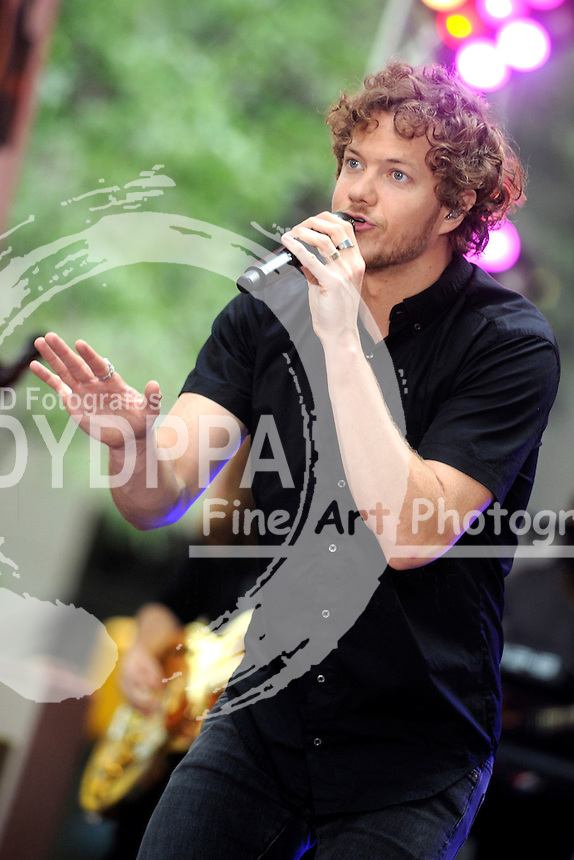 Dan Reynolds and Imagine Dragons perform at NBC's 'Today Show' at Rockefeller Plaza on June 26, 2015 in New York City.