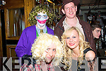 5814-5817.John Landy,Laurna Comerfort,Francis Galvin and Danny Casey all having a good laugh at the Halloween party in Gally's bar/restaurant Castlemaine rd Tralee last Saturday night.