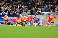 A scramble for the ball in the Grimsby box<br /> during the Sky Bet League 2 match between Cambridge United and Grimsby Town at the R Costings Abbey Stadium, Cambridge, England on 15 October 2016. Photo by PRiME Media Images.