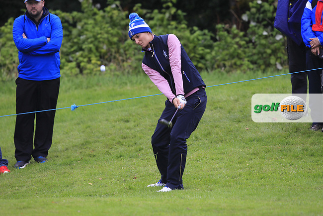 Anne Van Dam of Team Europe on the 17th during Day 2 Fourball at the Solheim Cup 2019, Gleneagles Golf CLub, Auchterarder, Perthshire, Scotland. 14/09/2019.<br /> Picture Thos Caffrey / Golffile.ie<br /> <br /> All photo usage must carry mandatory copyright credit (© Golffile | Thos Caffrey)