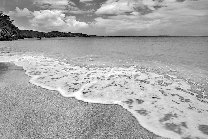 Trunk Beach with wave. St. John Island. US Virgin Islands. Virgin Islands National Park.