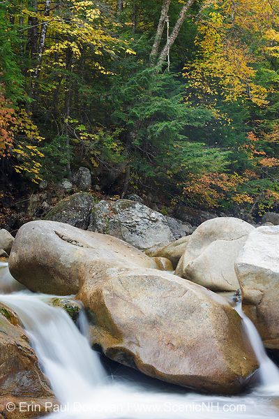 Sawyer River in the White Mountains, New Hampshire USA during the autumn months
