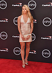 LOS ANGELES, CA - JULY 18: Mikaela Shiffrin attends the 2018 ESPYS at Microsoft Theater at L.A. Live on July 18, 2018 in Los Angeles, California.