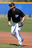 March 1, 2010:  First Baseman Brian Dopirak (11) of the Toronto Blue Jays during practice at Englebert Complex in Dunedin, FL.  Photo By Mike Janes/Four Seam Images