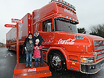 Declan, Susan, Conor and Niamh Higgins who visited the Coca Cola truck at Southgate shopping centre. Photo:Colin Bell/pressphotos.ie