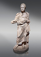Roman statue of Emperor Priest. Marble. Perge. 2nd century AD. Inv no . Antalya Archaeology Museum; Turkey.