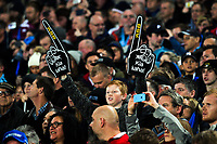 Fans in the grandstand during the 2017 DHL Lions Series rugby union match between the Blues and British & Irish Lions at Eden Park in Auckland, New Zealand on Wednesday, 7 June 2017. Photo: Dave Lintott / lintottphoto.co.nz