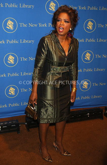 WWW.ACEPIXS.COM . . . . . ....November 13, 2006, New York City. ....Oprah Winfrey attends the Annual Library Lions Gala Held at the New York Public Library. ....Please byline: KRISTIN CALLAHAN - ACEPIXS.COM.. . . . . . ..Ace Pictures, Inc:  ..(212) 243-8787 or (646) 769 0430..e-mail: info@acepixs.com..web: http://www.acepixs.com
