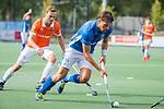 UTRECHT - Bjorn Kellerman (Kampong) met Roel Bovendeert (Bldaal)   tijdens de hoofdklasse competitiewedstrijd mannen, Kampong-Bloemendaal (2-2) .   COPYRIGHT KOEN SUYK