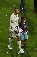 JUN 04 Cristiano Ronaldo and son 12th Champions League