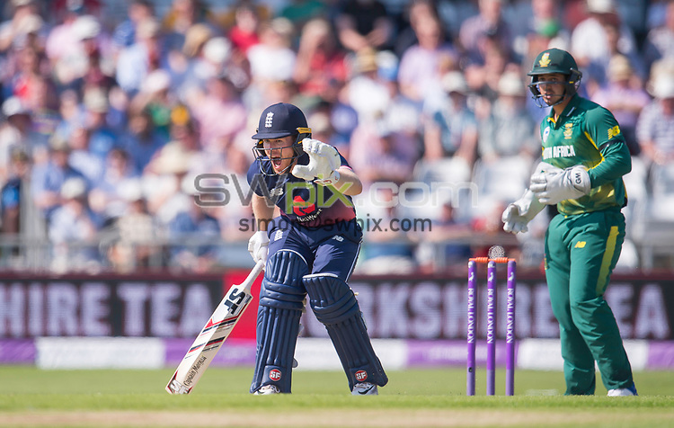 Picture by Allan McKenzie/SWpix.com - 24/05/2017 - Cricket - Royal London One-Day International - England v South Africa - Headingley Cricket Ground, Leeds, England - England's Eoin Morgan calls for no run against South Aftrica.