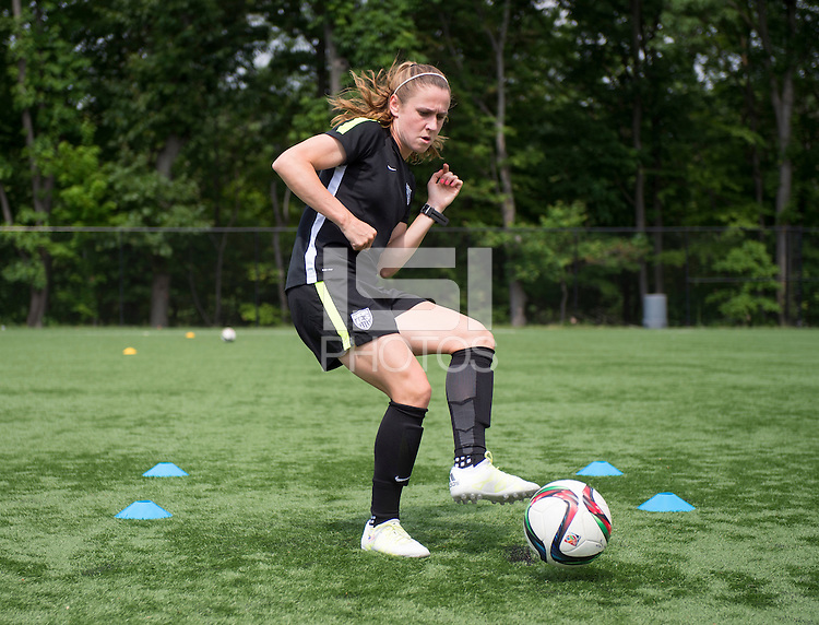Harrison, NJ - May 31, 2015: The USWNT trained on turf following their friendly against South Korea at Red Bull Arena.
