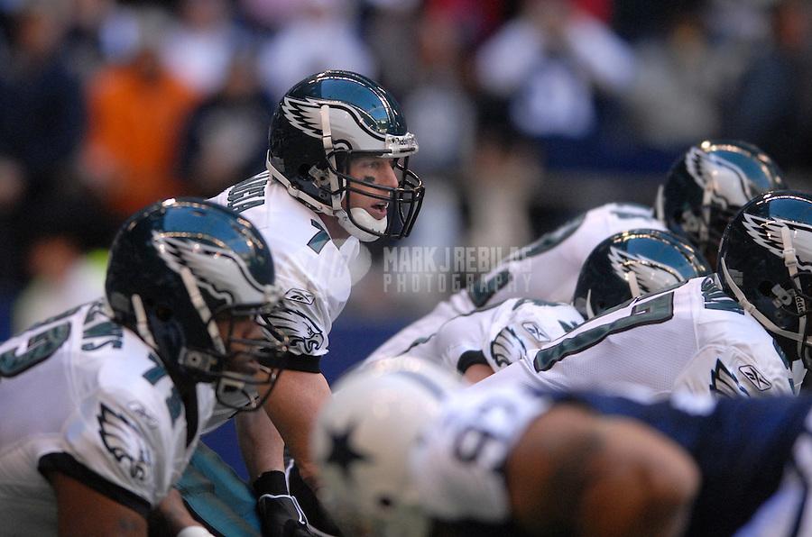 Dec. 25, 2006; Irving, TX, USA; Philadelphia Eagles quarterback (7) Jeff Garcia against the Dallas Cowboys at Texas Stadium in Irving, Texas. Philadelphia defeated Dallas 23-7. Mandatory Credit: Mark J. Rebilas