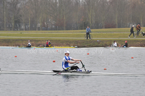 275 CanfordSch J18A.1x..Marlow Regatta Committee Thames Valley Trial Head. 1900m at Dorney Lake/Eton College Rowing Centre, Dorney, Buckinghamshire. Sunday 29 January 2012. Run over three divisions.