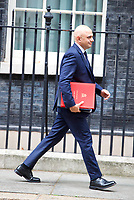 LONDON, UNITED KINGDOM - NOVEMBER 06: Britain's Home Secretary Sajid Javid leaves after a Cabinet meeting at 10 Downing Street in central London. November 06, 2018 in London, England. <br /> CAP/GOL<br /> &copy;GOL/Capital Pictures