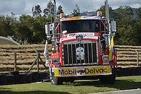 TOCANCIPÁ -COLOMBIA. 14-07-2013. 26° Gran Premio Nacional De Tractomulas realizado hoy en el autodromo de Tocancipá, Colombia./ 26th  National Trucks Grand Prix at Tocancipa racetrack today in Tocancipa, Colombia.  Photo: VizzorImage / Ericka Rozo/ Str