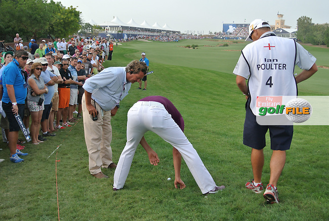 Ian Poulter (ENG) during round 4 of the season ending DP World, Tour Championship, Dubai, UAE.<br /> Picture: Fran Caffrey www.golffile.ie
