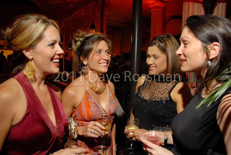 "Victoria Rentz, Catherine Rentz, Arlene Carlisle and Jennifer Segal at the Children's Museum ""Arabian Nights"" Gala at The Corinthian Saturday  Oct. 14,2006.(Dave Rossman/For the Chronicle)&#xA;&#xA;Rentz 713-666-2768<br />"