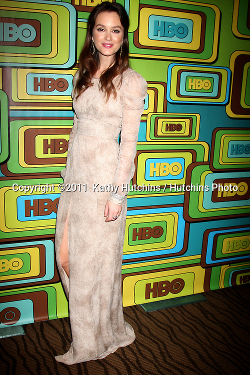 LOS ANGELES - JAN 16:  Leighton Meester arrives at the HBO Golden Globe Party 2011 at Circa 55 at the Beverly Hilton Hotel on January 16, 2011 in Beverly Hills, CA