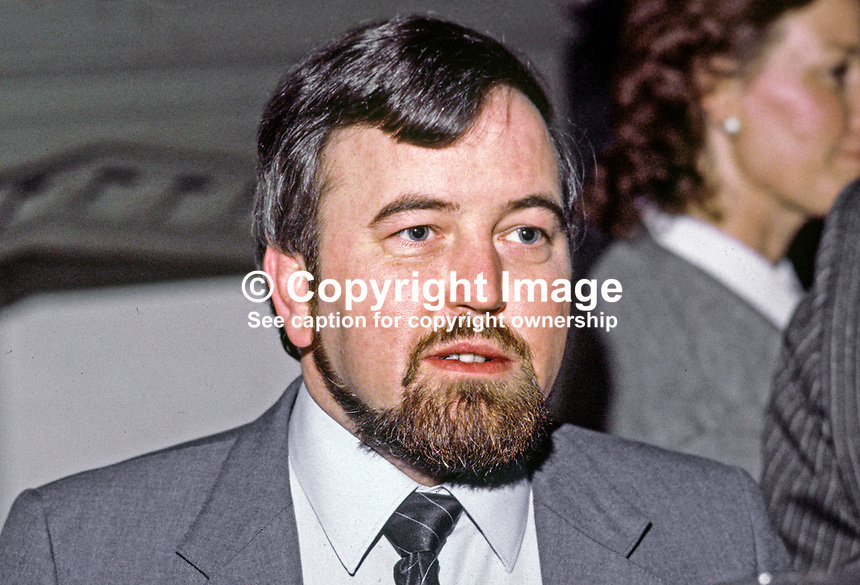 Terry Carlin, N Ireland Officer, Irish Congress of Trade Unions. Ref: 198501012.<br />