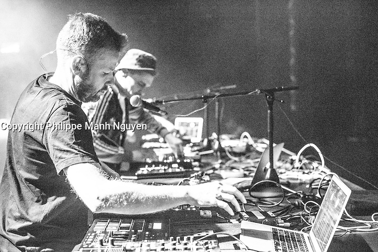 Techno group BIRDY BIRDY NAM NAM in concert at the Olympia of Montreal, March 19, 2016.<br /> <br /> Photo : Philippe Manh Nguyen<br /> - Agence Quebec Presse