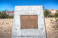 Old Route 66 Marker Chambless California.<br /> <br /> The plaque reads:<br /> &quot;Old Route 66<br /> Perhaps no other highway in the U.S. is as fabled as Old Route 66. It has been immortalized in song, literature, and even a T.V. Series as the Main Street of America. Autumobiles came early to the desert, following the railroad with its reliable water sources. in the early 1900's the route was known as the National Old Trails Road. In 1926 it became U.S. Highway 66, and within a decade was paved all the way from L.A. to Chicago. Heavy travel by dustbowl emigrants led John Steinbeck to label it The Mother Road. Chambless, where you now stand, was a typical roadside stop. It was bypassed by Interstate 40 in 1973, and the Route 66 designation was officially dropped in 1985.<br /> Billy Holcomb Chapter<br /> The Ancient and Honorable Order<br /> E Clampus Vitus<br /> May 3, 1992&quot;