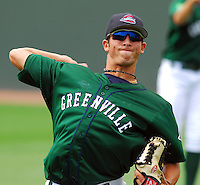6 May 2007: Miguel Socolovich from a game between the Greenville Drive, Class A affiliate of the Boston Red Sox, and the Augusta GreenJackets at West End Field in Greenville, S.C. Photo by:  Tom Priddy/Four Seam Images