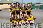 Currow National School students, who took park in the Mounthawk Park, Tralee 5 aside County Finals soccer blitz on Wednesday, May 3rd last were. front l-r: Cara Fleming, Clodagh Coffey, Elaine Cronin and Jessica O'Loughlin. Fiona Brosnan, Emma Buckley, Julia Curtin and Danielle Moriarty.