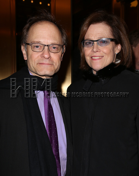 David Hyde Pierce and Sigourney Weaver attend the Broadway Opening Night Performance of 'Twelfth Night' at the Belasco Theatre on November 10, 2013 in New York City.