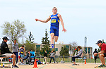 FARGO, ND - MAY 12: Bryant Courter from South Dakota State leaps during the men's long jump finals at the 2017 Summit League Outdoor Championship Friday afternoon at Ellig Sports Complex in Fargo, ND. (Photo by Dave Eggen/Inertia)