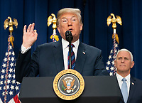 United States President Donald J. Trump speaks before signing S. 204, the &ldquo;Right to Try Act&rdquo; at the White House in Washington, DC, May 30, 2018.<br /> CAP/MPI/RS<br /> &copy;RS/MPI/Capital Pictures
