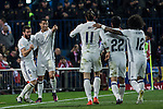 Real Madrid's Cristiano Ronaldo Nacho Fernandez Garet Bale Isco Alarcon Marcelo Vieira  during the match of La Liga between Atletico de Madrid and Real Madrid at Vicente Calderon Stadium  in Madrid , Spain. November 19, 2016. (ALTERPHOTOS/Rodrigo Jimenez)