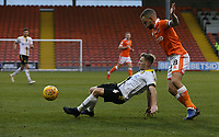 Burton Albion's Jamie Allen is closely marked by Blackpool's Jay Spearing<br /> <br /> Photographer Stephen White/CameraSport<br /> <br /> The EFL Sky Bet League One - Blackpool v Burton Albion - Saturday 24th November 2018 - Bloomfield Road - Blackpool<br /> <br /> World Copyright © 2018 CameraSport. All rights reserved. 43 Linden Ave. Countesthorpe. Leicester. England. LE8 5PG - Tel: +44 (0) 116 277 4147 - admin@camerasport.com - www.camerasport.com
