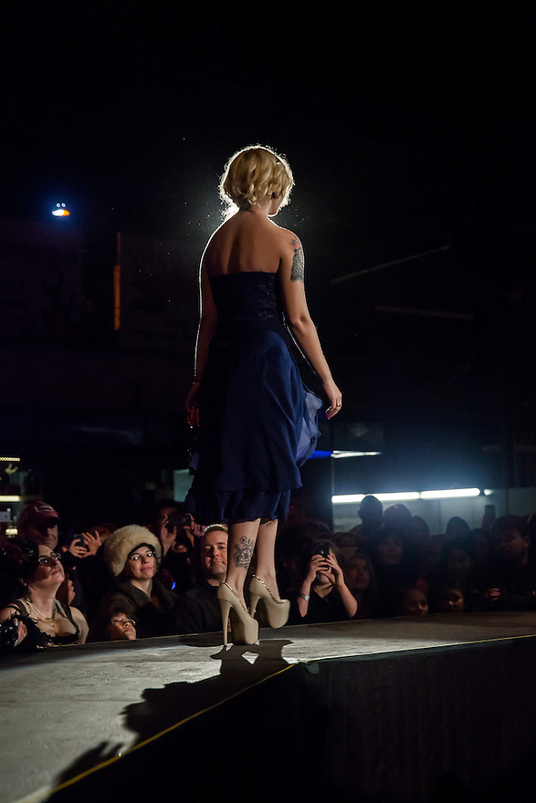 """Bay Area fashion designers present The Crucible's 15th Annual """"Hot Couture 2014: The Fusion of Fashion & Fire"""" on Friday, January 10 and Saturday, January 11, 2014. The Crucible is an Oakland, California non-profit art education facility."""