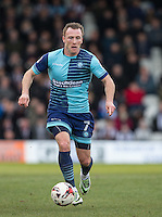 Garry Thompson of Wycombe Wanderers during the Sky Bet League 2 match between Grimsby Town and Wycombe Wanderers at Blundell Park, Cleethorpes, England on 4 March 2017. Photo by Andy Rowland / PRiME Media Images.
