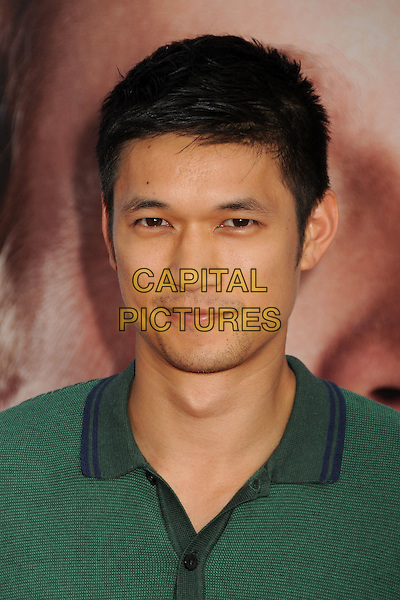 "Harry Shum Jr..""The Campaign"" Los Angeles Premiere held at Grauman's Chinese Theatre, Hollywood, California, USA..August 2nd, 2012.headshot portrait green top stubble facial hair.CAP/ADM/BP.©Byron Purvis/AdMedia/Capital Pictures."