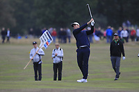 Lucas Bjerregaard (DEN) on the 11th fairway during Round 1of the Sky Sports British Masters at Walton Heath Golf Club in Tadworth, Surrey, England on Thursday 11th Oct 2018.<br /> Picture:  Thos Caffrey | Golffile<br /> <br /> All photo usage must carry mandatory copyright credit (© Golffile | Thos Caffrey)