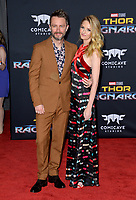 Chris Hardwick &amp; Lydia Hearst at the premiere for &quot;Thor: Ragnarok&quot; at the El Capitan Theatre, Los Angeles, USA 10 October  2017<br /> Picture: Paul Smith/Featureflash/SilverHub 0208 004 5359 sales@silverhubmedia.com