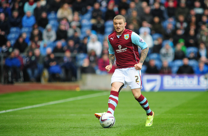 Burnley's Kieran Trippier <br /> <br /> Photo by Chris Vaughan/CameraSport<br /> <br /> Football - The Football League Sky Bet Championship - Burnley v Middlesbrough - Saturday 12th April 2014 - Turf Moor - Burnley<br /> <br /> &copy; CameraSport - 43 Linden Ave. Countesthorpe. Leicester. England. LE8 5PG - Tel: +44 (0) 116 277 4147 - admin@camerasport.com - www.camerasport.com