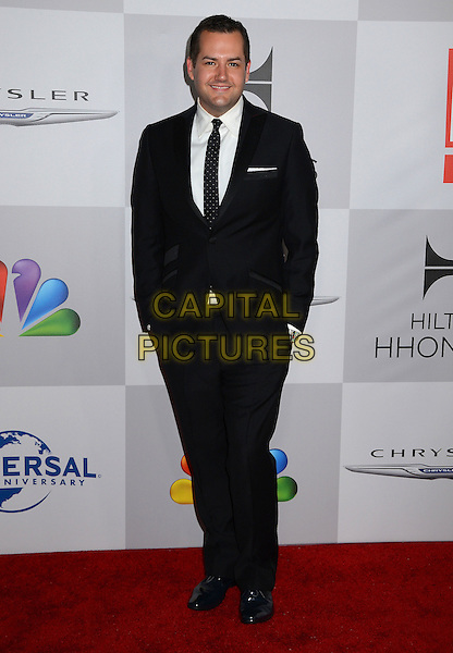 Ross Mathews.NBC Universal Golden Globes After Party held at the Beverly Hilton Hotel, Hollywood, California, USA..January 15th, 2012.full length black suit white shirt tie hands in pockets .CAP/ADM/BT.©Birdie Thompson/AdMedia/Capital Pictures.