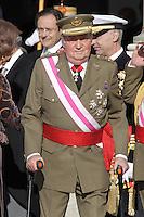 MADRI, ESPANHA, 06 JANEIRO 2013 - PARADA MILITAR ANO NOVO - O Rei da Espanha Juan Carlos durante Parada Militar do Ano Novo no Palacio Real de Madri capital da Espanha, neste domingo, 06/01/2013. (FOTO: MIGUEL CORDOBA / ALFAQUI / BRAZIL PHOTO PRESS).
