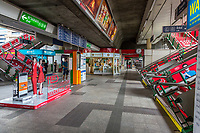Bangkok, Thailand.  Skytrain Station.  Stairs lead to Boarding Level.