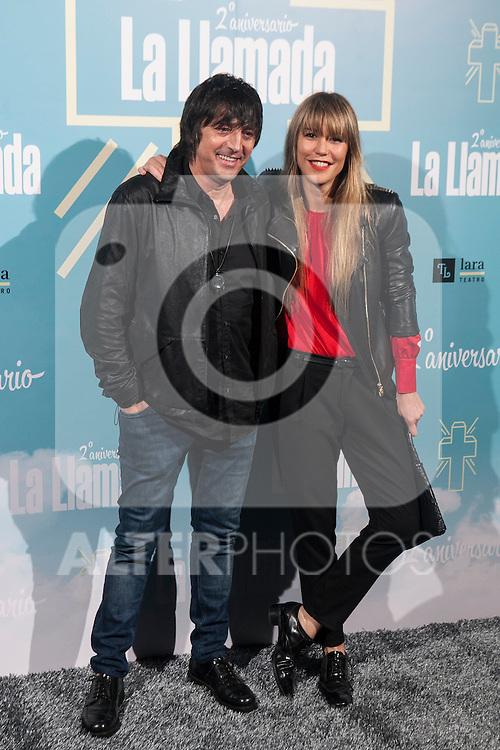 Raquel Merono attends La Llamada theater play in Madrid, Spain. April 15, 2015. (ALTERPHOTOS/Victor Blanco)