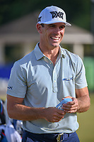 Billy Horschel (USA) shares a laugh on the practice green before Round 3 of the Zurich Classic of New Orl, TPC Louisiana, Avondale, Louisiana, USA. 4/28/2018.<br /> Picture: Golffile | Ken Murray<br /> <br /> <br /> All photo usage must carry mandatory copyright credit (&copy; Golffile | Ken Murray)