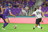 Orlando, FL - Saturday August 12, 2017: Samantha Kerr during a regular season National Women's Soccer League (NWSL) match between the Orlando Pride and Sky Blue FC at Orlando City Stadium.
