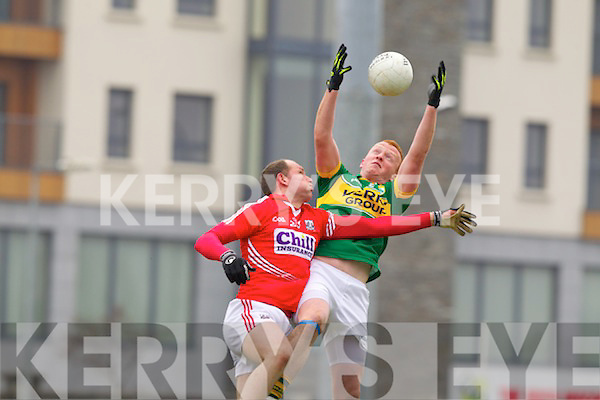 Johnny Buckley Kerry in action against Alan O'Connor Cork in the National Football League at Austin Stack park, Tralee on Sunday.